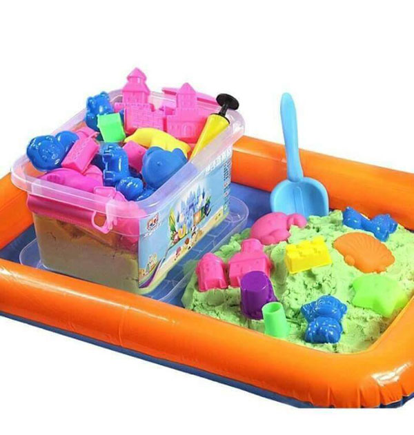 Bộ bể khuôn cát nặn cho bé bao gồm 1 bể