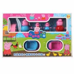 Bộ đồ chơi Peppa Pig xe trượt