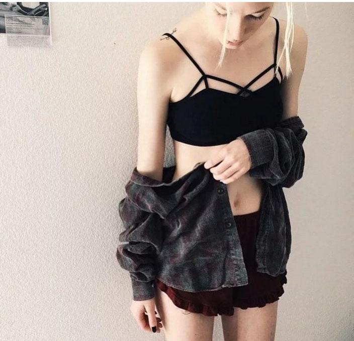 Áo lót sexy dây đan có mút mỏng
