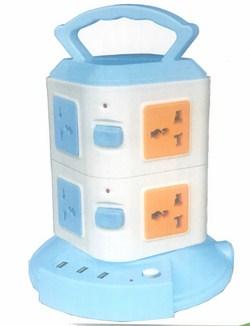 Ổ Điện Đa Năng 2 Tầng 8 ổ cắm 3 Cổng USB