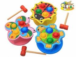 Bộ đồ chơi đập cá bằng gỗ