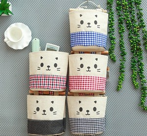 Túi treo tường vải bố hình mèo
