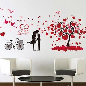 Decal dán tường cây trái tim