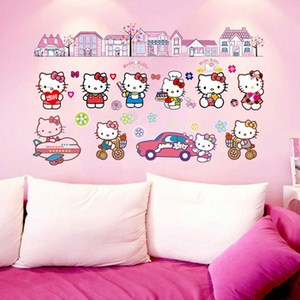 Decal dán tường hello kitty