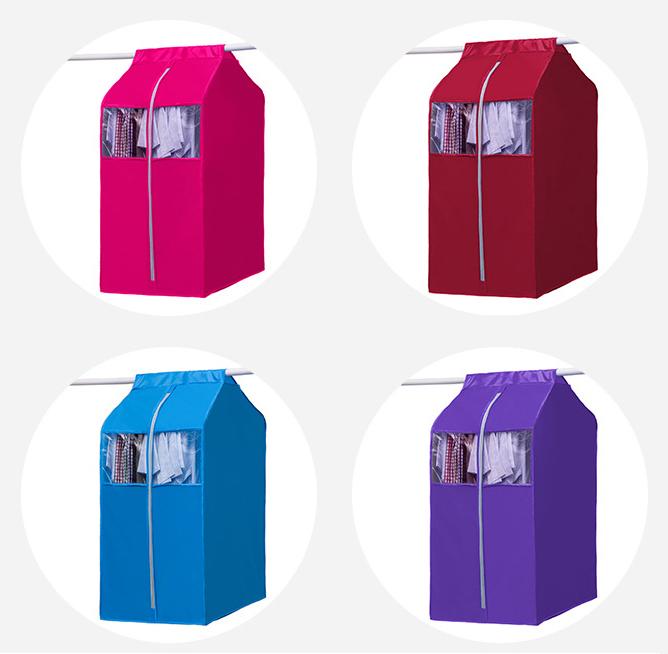 Túi treo bảo vệ quần áo chống bụi bẩn có khóa kéo