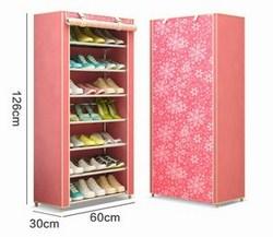 Giá đựng giày dép 7 tầng (hình chấm bi và hoa văn)