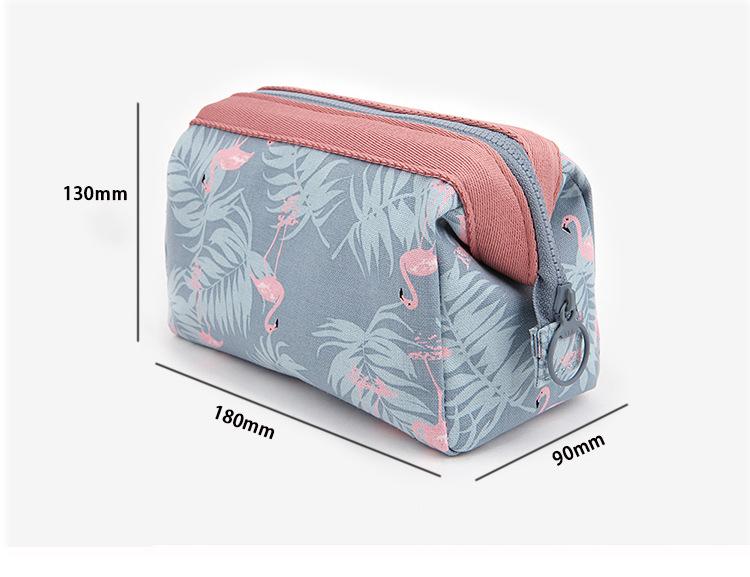 Túi đựng mỹ phẩm hoa văn Brahma Flamingo