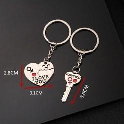 Móc chìa khóa hình I Love You