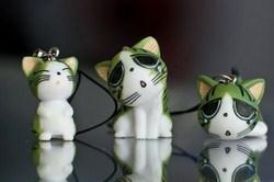 Móc chìa khóa hình mèo