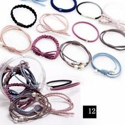 Set 12 dây buộc tóc mềm