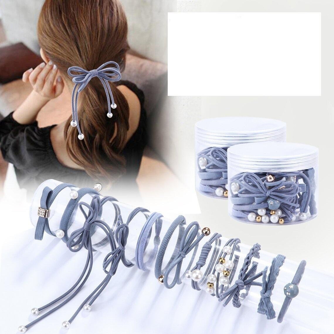 Set 12 dây buộc tóc mềm Hàn Quốc