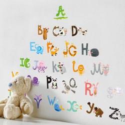 Decal 24 chữ cái cho bé