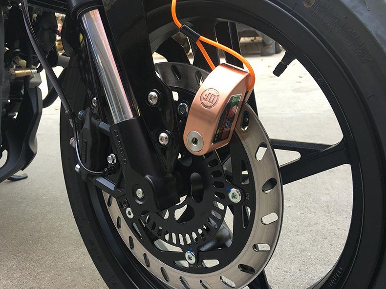 Bộ khóa đĩa xe máy chống trộm có báo động