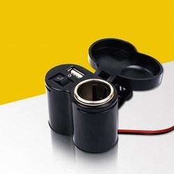Bộ sạc điện thoại trên xe máy có tẩu SĐTT02