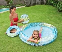 Bể bơi ngôi sao có bóng và vòng bơi
