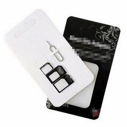 Bộ SIM Card Adapter 4 trong 1 Nano Micro SIM Adapter