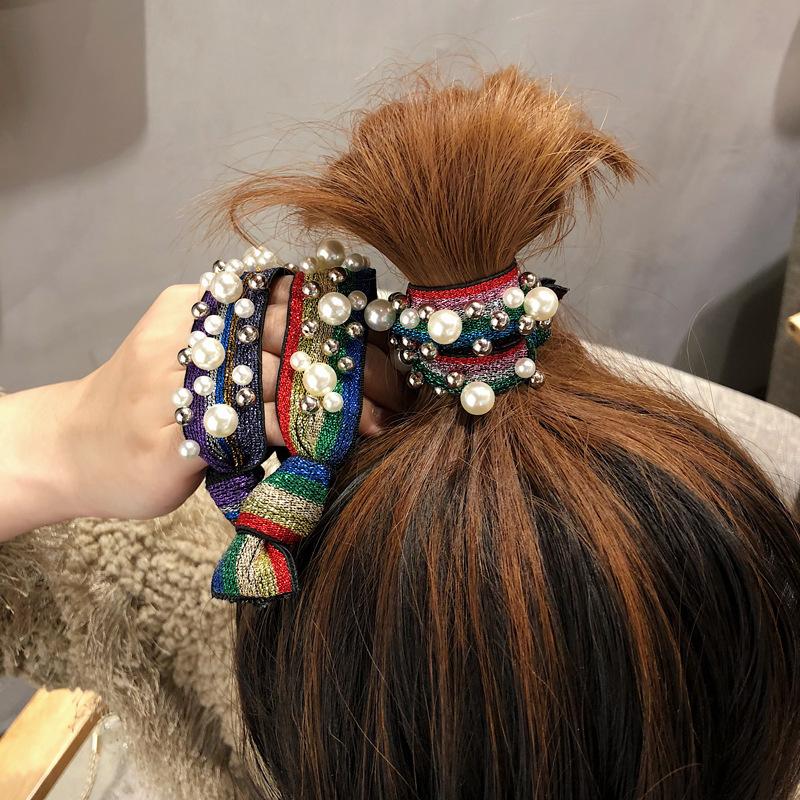 Dây lưới cột tóc đính ngọc