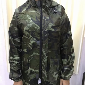 Bộ quần áo đi mưa hình lính vải dù siêu bền