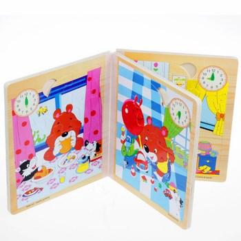 Cuốn sách 3 chiều bằng gỗ cho bé