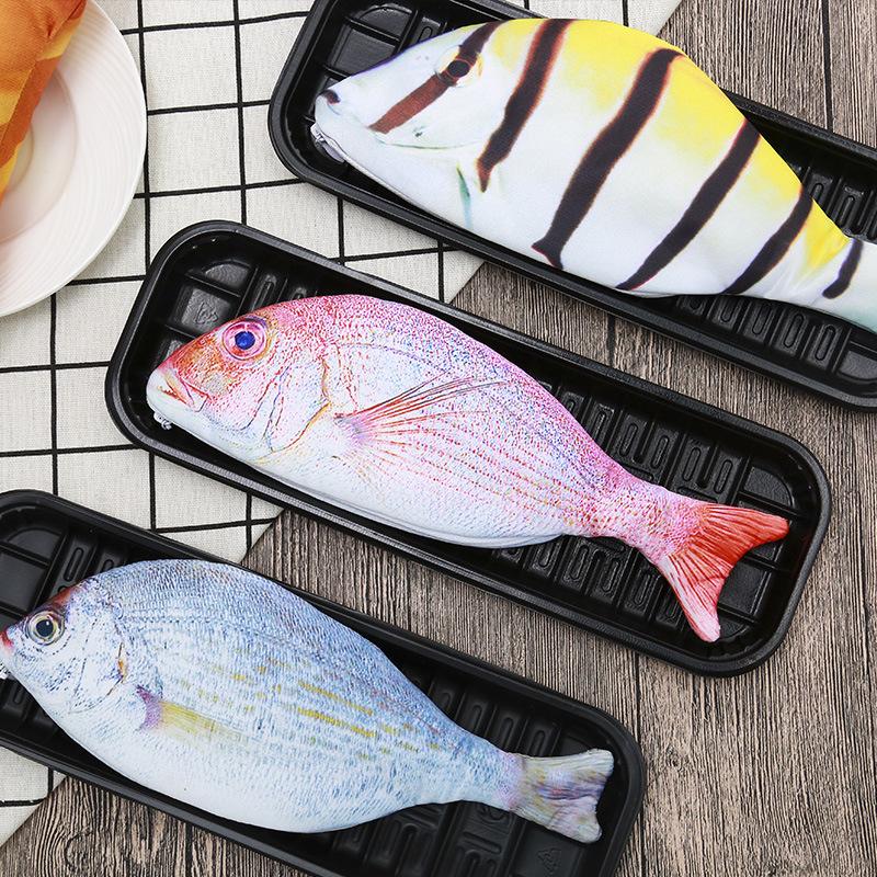 Hộp bút hình cá 3d