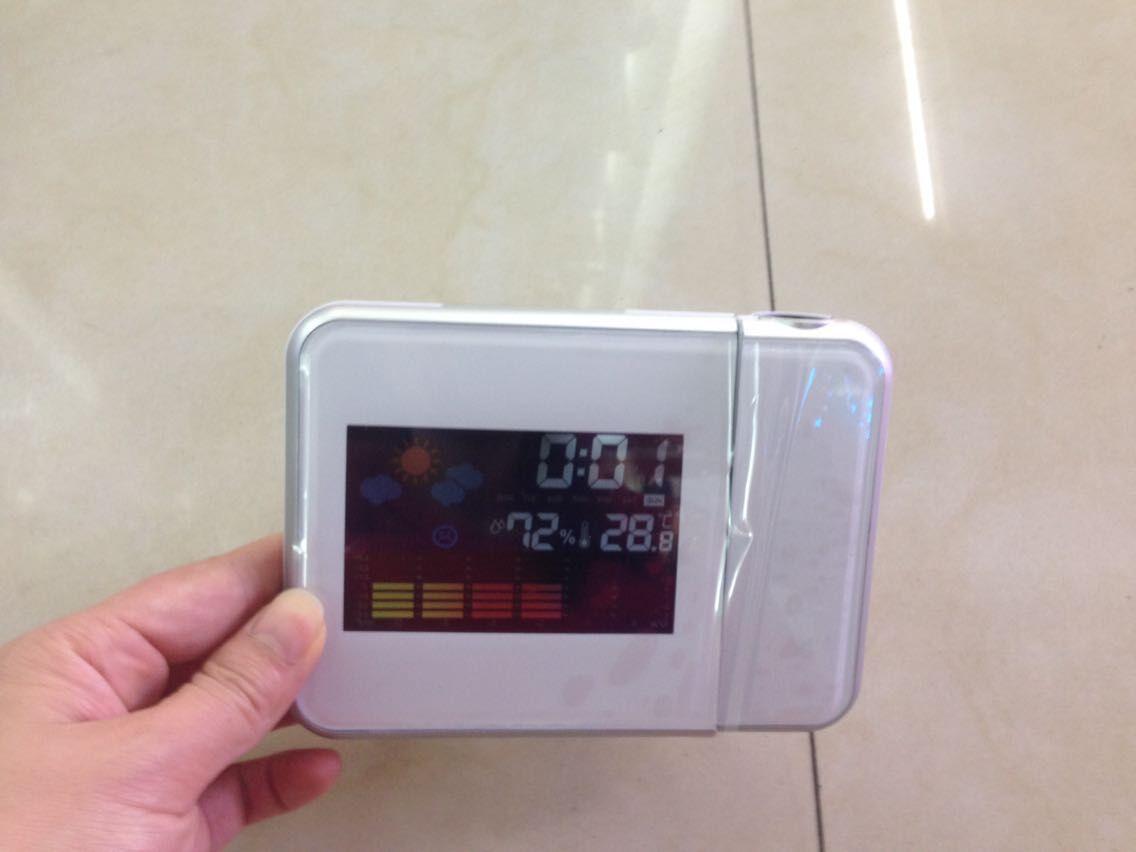 Đồng hồ điện tử báo thời tiết có đèn led hiển thị