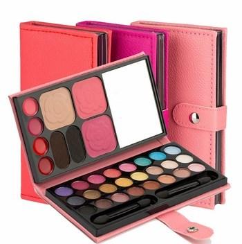 Bảng màu mắt 33 màu Lameila (có gương, son, má hồng, phấn phủ, phẩn chân mày và cọ)