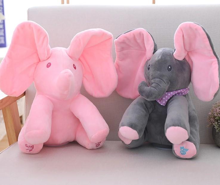 Đồ chơi con voi có nhạc cho bé 30cm
