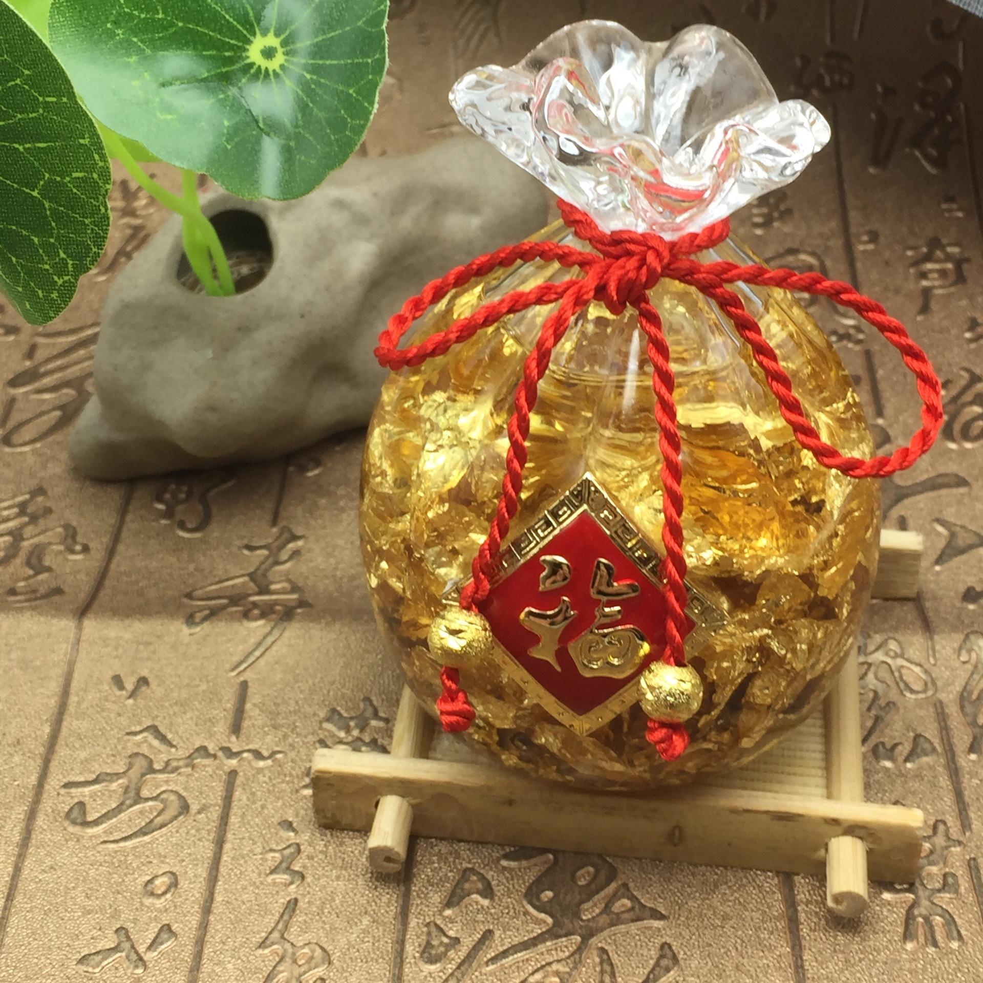 Túi vàng pha lê phong thủy