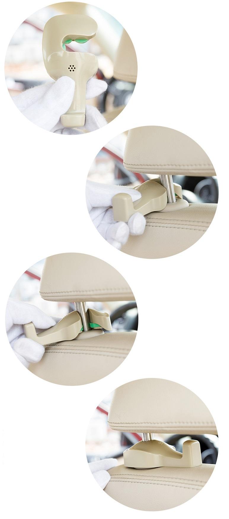 Móc khóa treo đồ ghế sau xe hơi