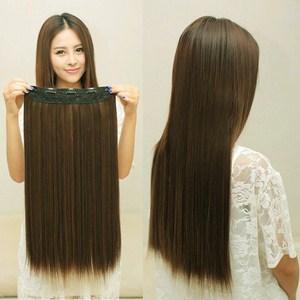 Tóc giả dài thẳng nữa đầu có kẹp