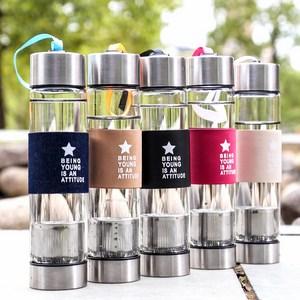 Bình nước thủy tinh 450ml có ngăn trà