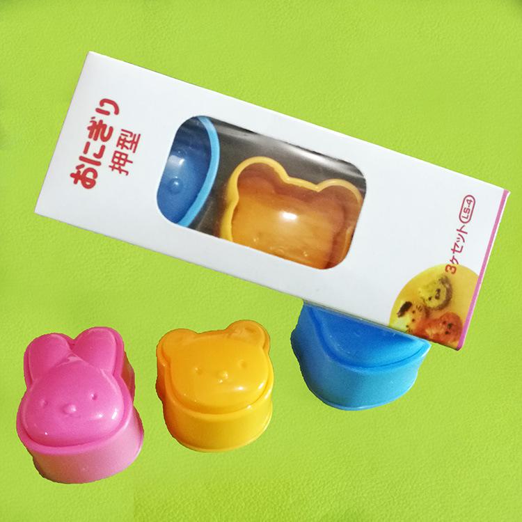 Bộ 3 khuôn tạo hình cơm hình gấu cho bé