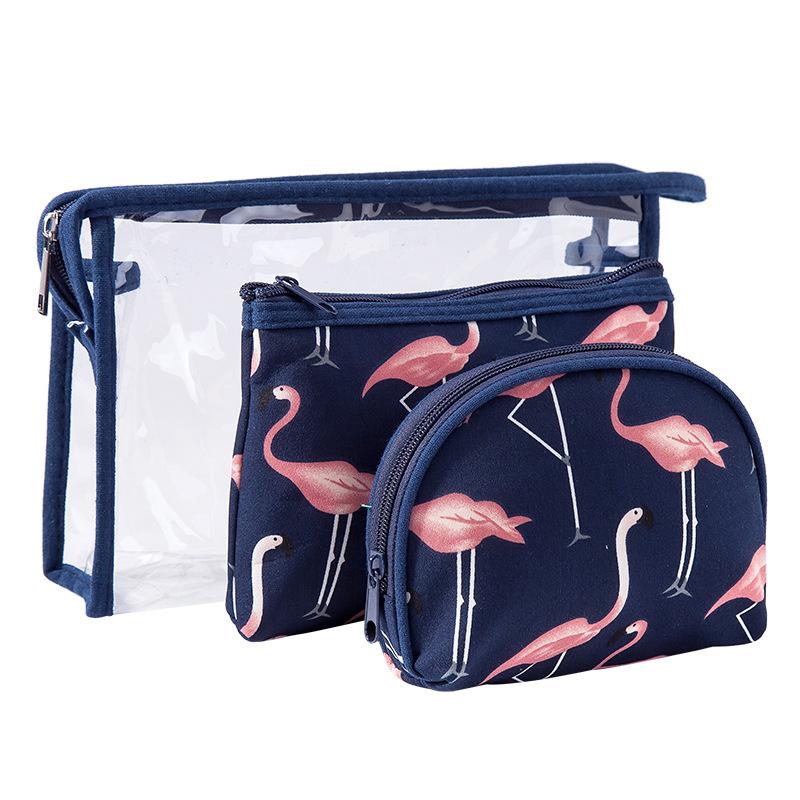 Bộ 3 túi đựng mỹ phẩm hình con cò