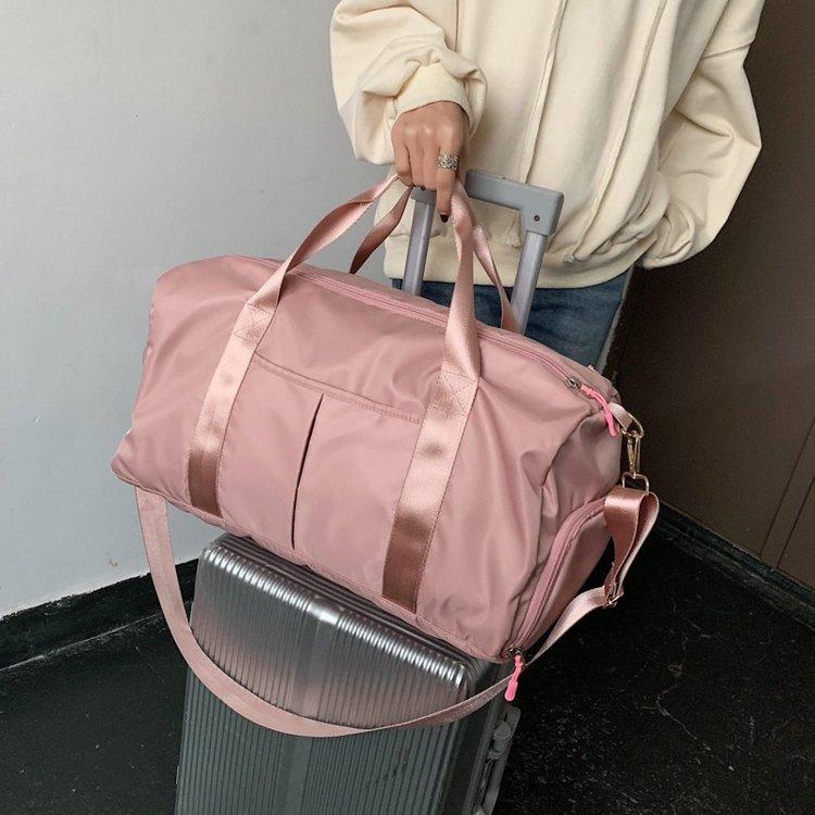 túi xách du lịch đa năng (hồng, đen)