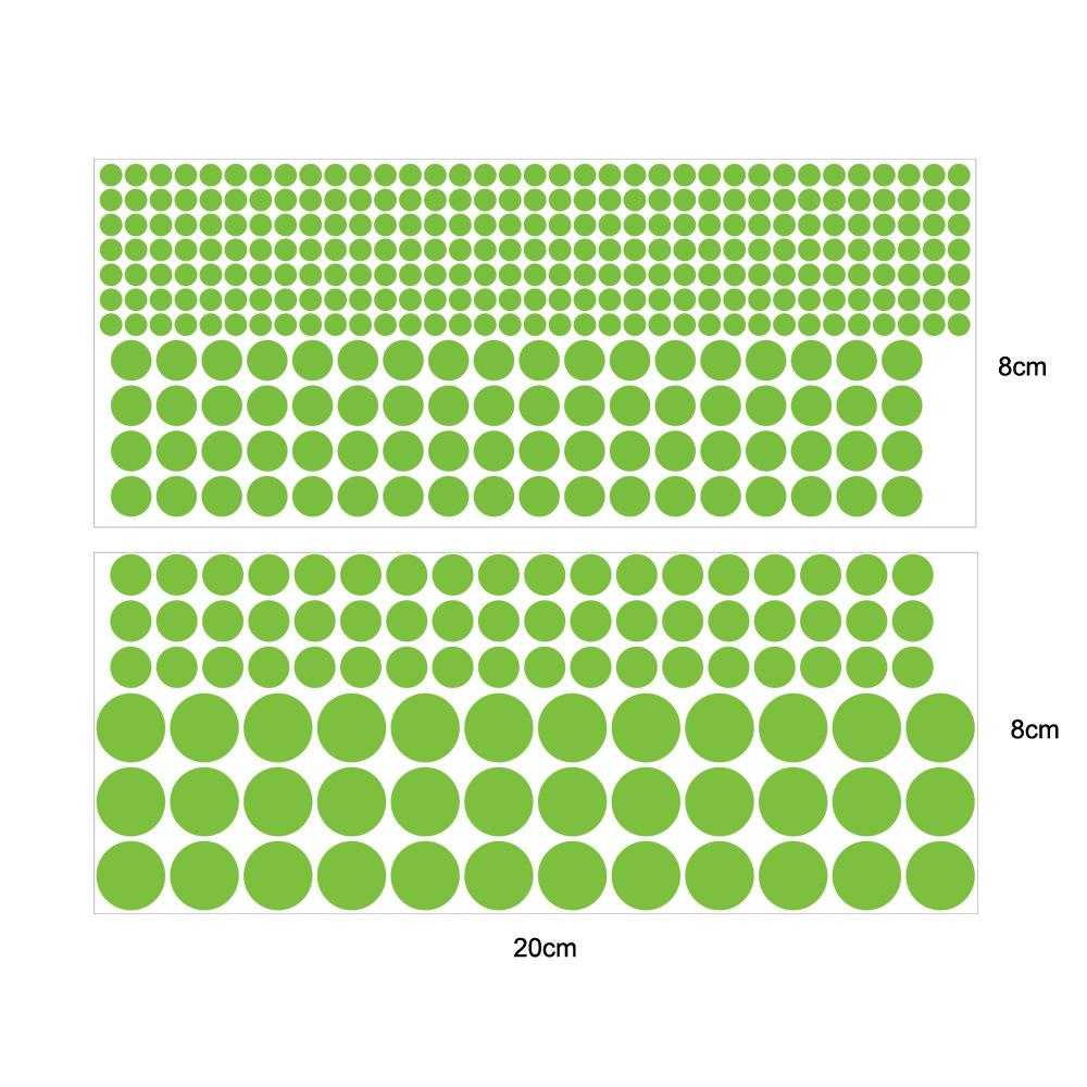 Nhãn dán tường dạ quang 40 hình tròn