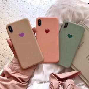 Ốp lưng điện thoại chống bẩn hình trái tim cho iphone