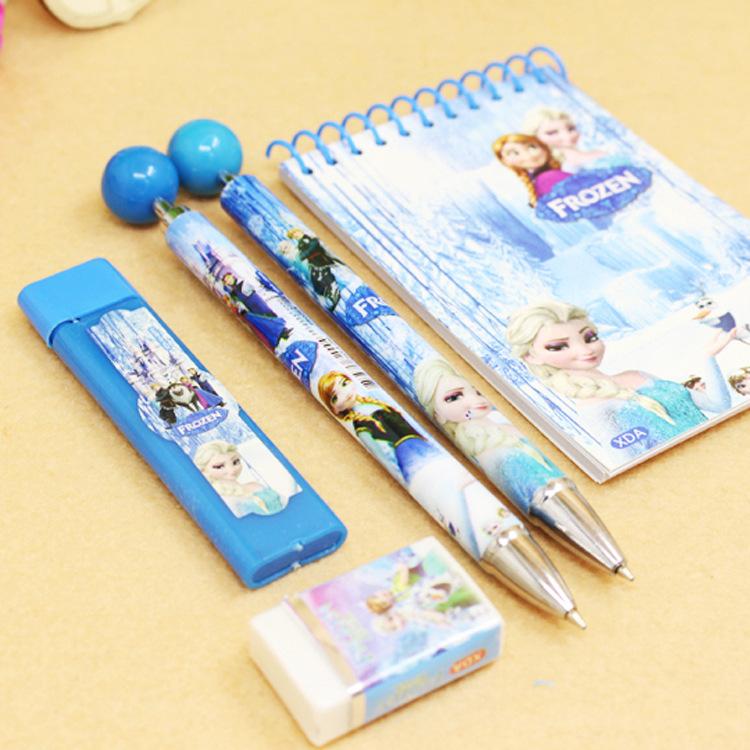 Bộ bút chì bấm và tập 5 món cho bé