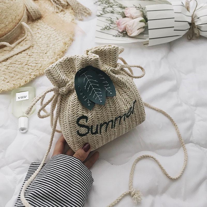 Túi Summer dây rút phối hình lá
