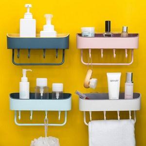 Kệ treo tường đựng đồ phòng tắm có 4 móc
