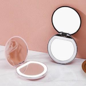 Gương tròn trang điểm có đèn led (Trắng , hồng)