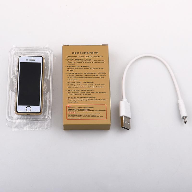 Bật lửa hình điện thoại sạc USB