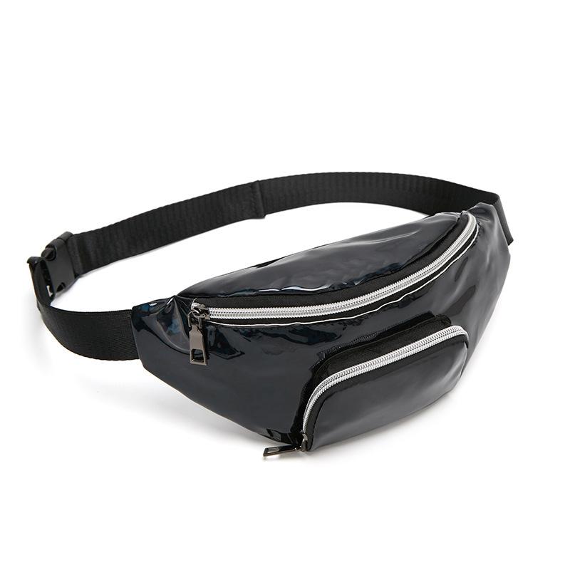 Túi bao tử đeo chéo nữ bằng da kim tuyến 2 ngăn (5 màu)