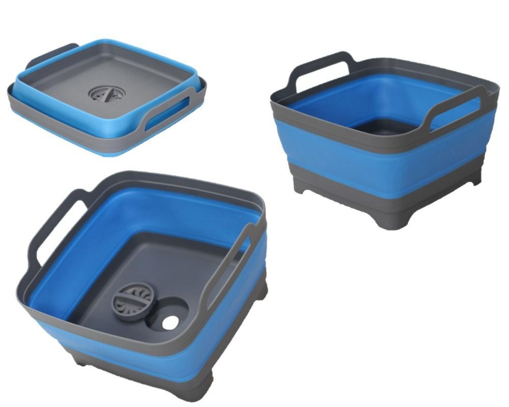 Bồn rửa chén hình vuông gấp gọn có lỗ thoát nước