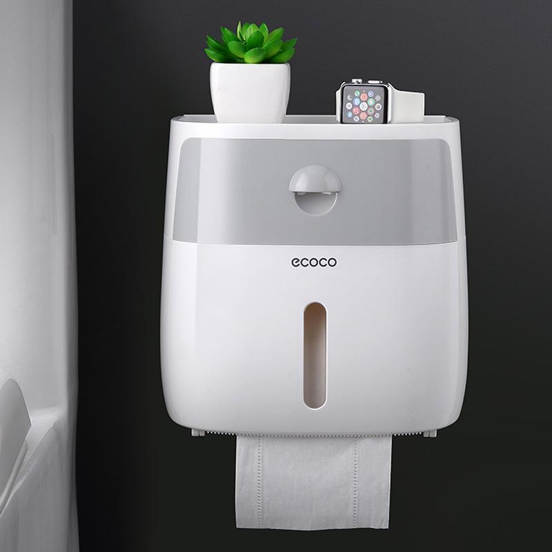 Hộp đựng giấy phòng vệ sinh 2 ngăn Ecoco