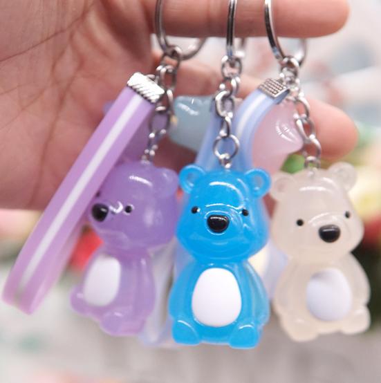 Móc khóa hính gấu va ngôi sao (nhiều màu )