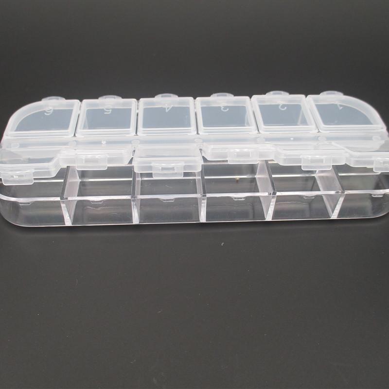 Hộp nhựa 12 ô đựng nữ trang & khuyên ta