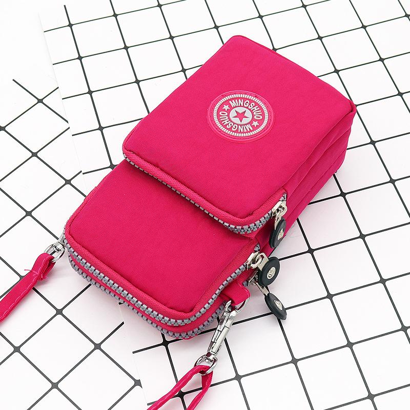 Túi đựng điện thoại đeo chéo có 3 ngăn (6 màu)
