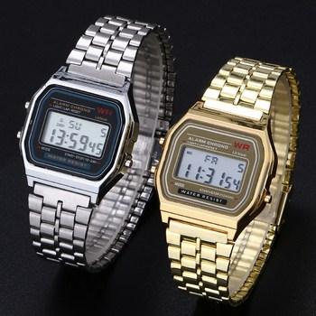 Đồng hồ WR dây hợp kim (màu bạc)