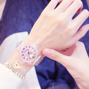 Đồng hồ thời trang nữ dây đeo trong suốt Candycat