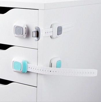 Dụng cụ khóa tủ có dây chỉnh kích thước (4 màu)